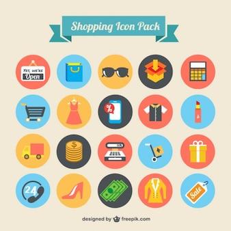 Ícones da compra embalar