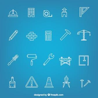 Ícones da construção