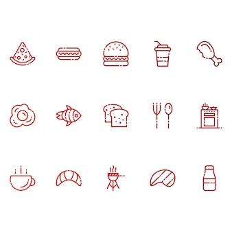 Ícones de alimentos e bebidas