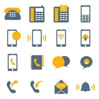 ícones de conectividade coloridos