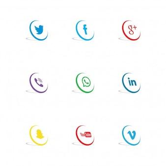 Ícones de rede social
