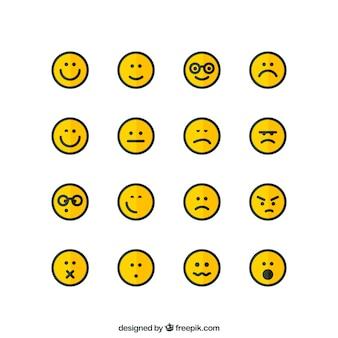 Ícones de rosto
