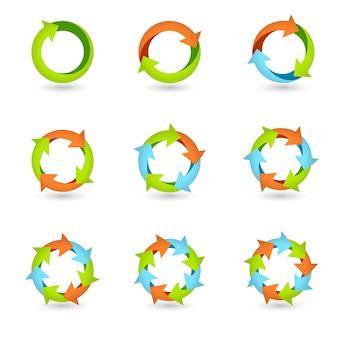 Ícones de seta de círculo
