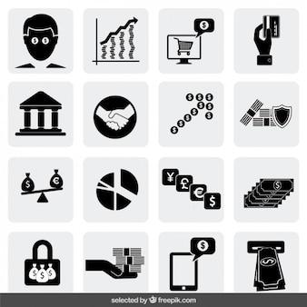 Ícones do dinheiro coleção