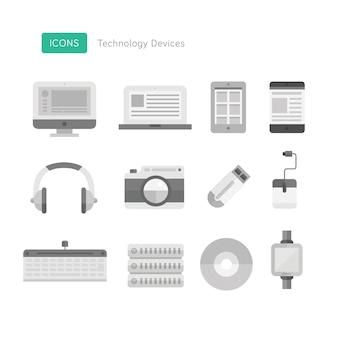 Ícones do dispositivo de tecnologia