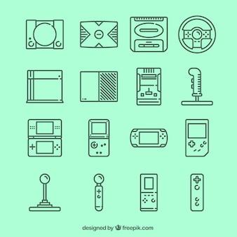 Ícones do jogo de vídeo