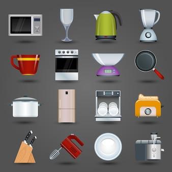 Ícones dos aparelhos de cozinha