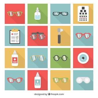 Ícones oftalmologista