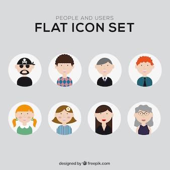 Ícones pessoas ilustradas