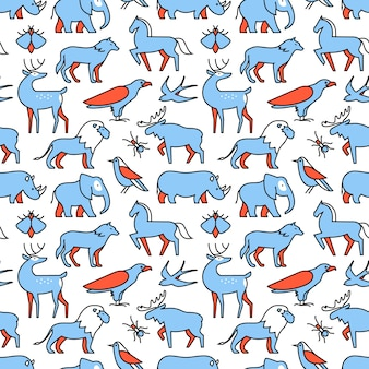 Ícones populares de animais selvagens
