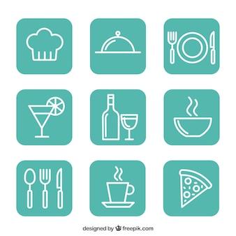 ícones restaurante