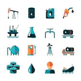 Ícones sobre petróleo