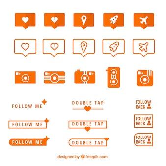 Ícones sociais da rede