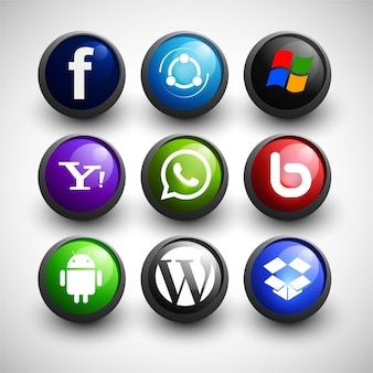 Ícones sociais dos media et