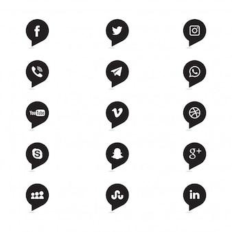 Ícones sociais dos media
