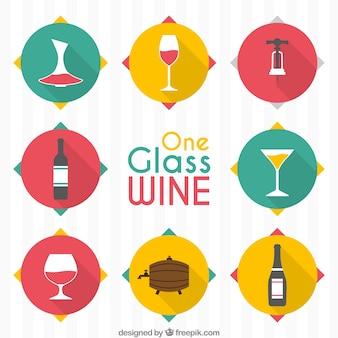 Ícones Vinho