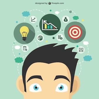 Idéia do negócio conceito