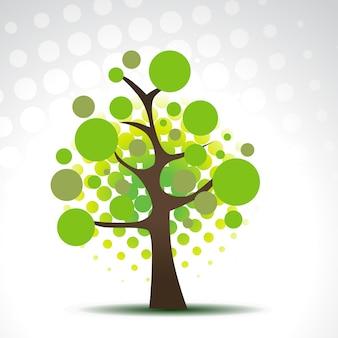 Ilustração abstrata da árvore dos círculos do vetor