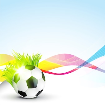 Ilustração abstrata do fundo do futebol abstrato