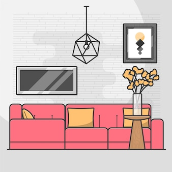 Ilustração acolhedora de casa