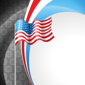 Ilustração americana do design da bandeira americana