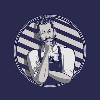 Ilustração Barberman