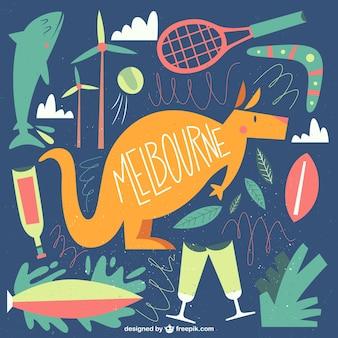 Ilustração bonito Melbourne
