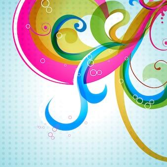 Ilustração colorida de design floral colorido