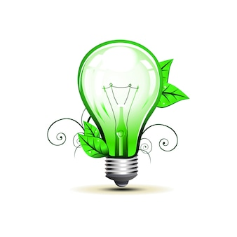 Ilustração da arte do projeto do bulbo do eco do vetor