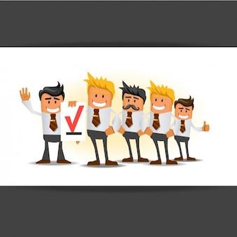 Ilustração da equipe do negócio