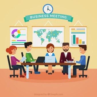 Ilustração da reunião de negócio