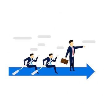 Ilustração de conceito de negócios de habilidade de liderança