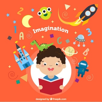 Ilustração de imaginação conceito