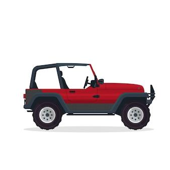 Ilustração de Veículo SUV de aventura urbana moderna vermelha