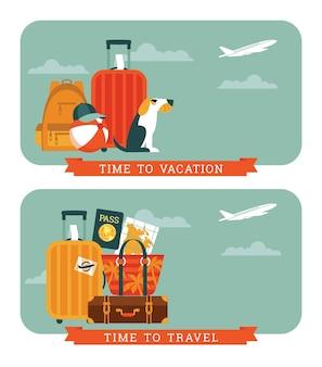 Ilustração de viagens.