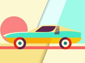 Ilustração do carro esporte Abstract