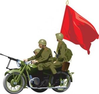 ilustração do Exército da Rússia soviética
