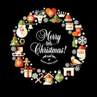Ilustração do Natal do vetor conjunto de ícones