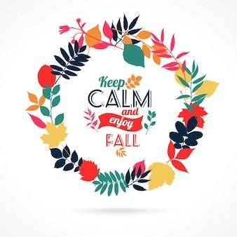 Ilustração do outono das folhas