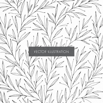 Ilustração do padrão botânico