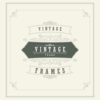 Ilustração do vetor do cartão do ornamento do vintage. Fundo vintage. Quadro vintage