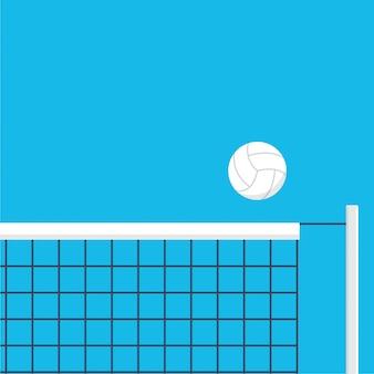 Ilustração do voleibol