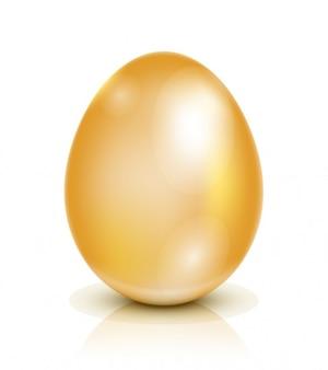 Ilustração dourada do ovo da páscoa