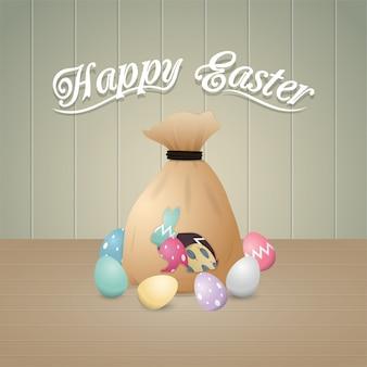 Ilustração feliz de Páscoa