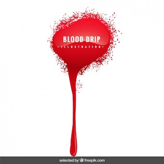 Ilustração gotejamento de sangue