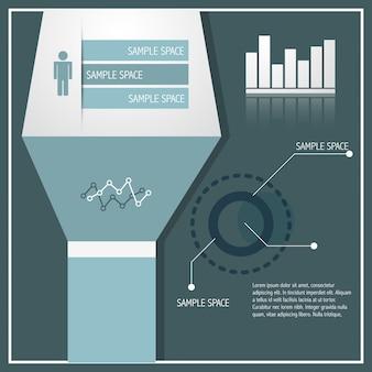Ilustração infográfica elegante