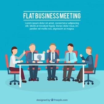 Ilustração reunião de negócios Plano