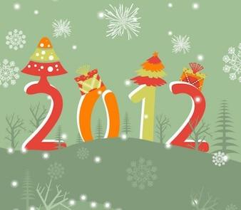Ilustração vetorial ano novo