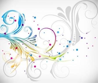 Ilustração vetorial colorido design floral
