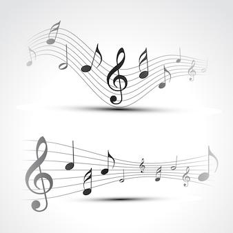 Ilustração vetorial da fundo da nota da música